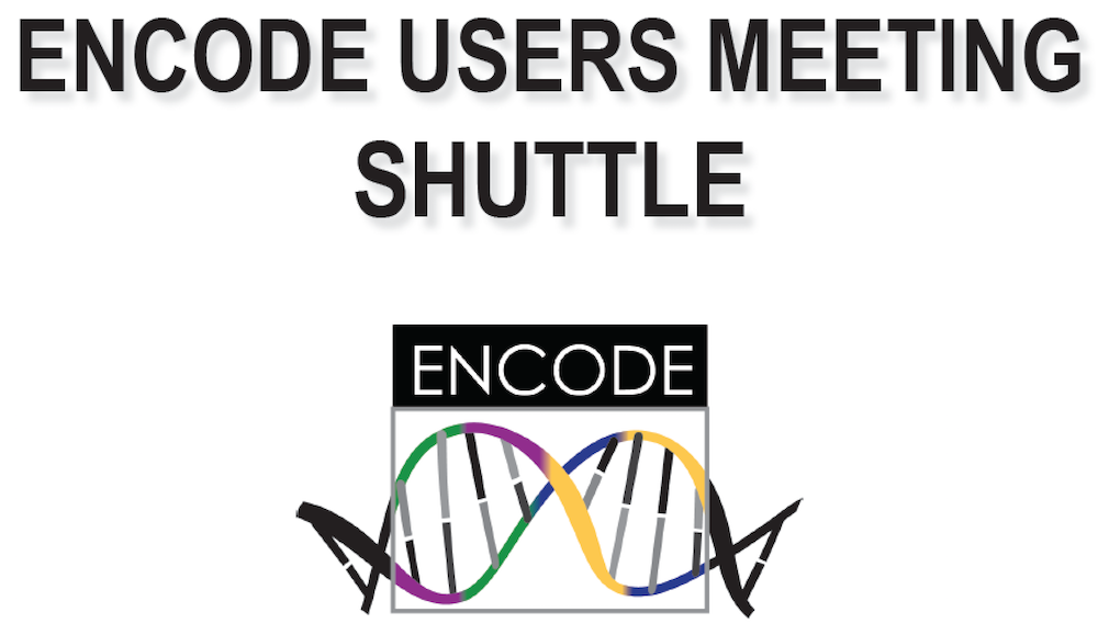 ENCODE Users Meeting poster with DNA